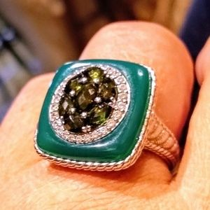 NWOT Judith RIPKA Sterling Silver Gemstone Ring